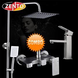 Combo sen cây và vòi lavabo inox304 Zento KM112